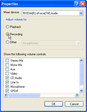 Using the Windows Volume Control with DanceMaster Software for Round